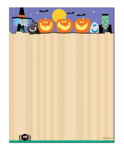 60 Sheets Per stationery Pack 6525 Funny Halloween Letterhead Stationery