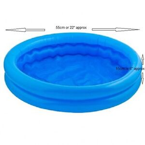 Baby toddler kids childs paddling pool 2 ring small 55cm for Small paddling pool