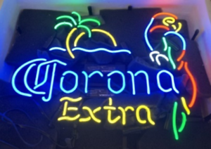 """New Corona Extra Parrot Palm Tree Beer Neon Sign 20/""""x16/"""""""