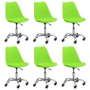 3068578 vidaXL Dining Chairs 6 pcs Green Faux Leather (3x288399)