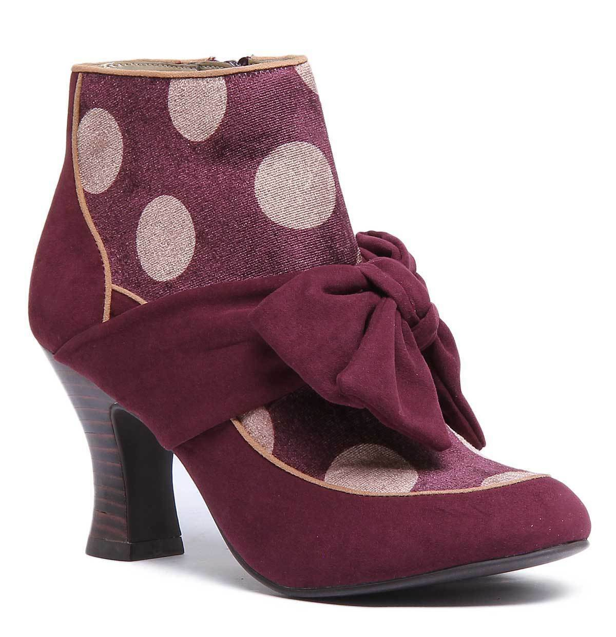 Ruby Shoo Seren Damenschuhe Textile Burgundy Ankle Stiefel Stiefel Ankle 4bb239