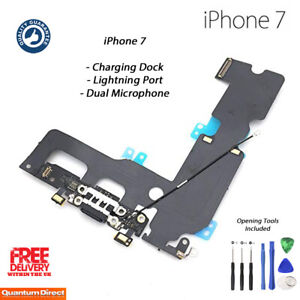 reputable site f434b 6f71e Details about NEW iPhone 7 Lightning Port Charging Dock Dual Microphone  Repair w/Tools - BLACK