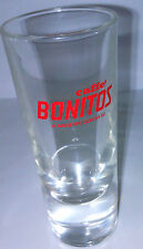 """Caffe Bonitos Large Shot Glass Collectors  Approx. 5 3/4"""" x 2 1/8"""" Heavy Nice"""