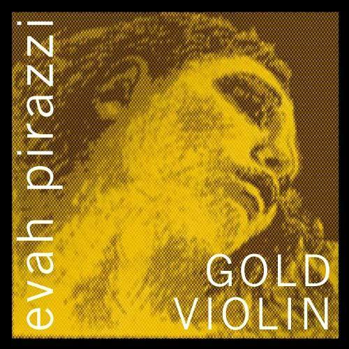 Medium GOLD Wound G Ball  E Pirastro Evah Pirazzi Gold Violin String Set