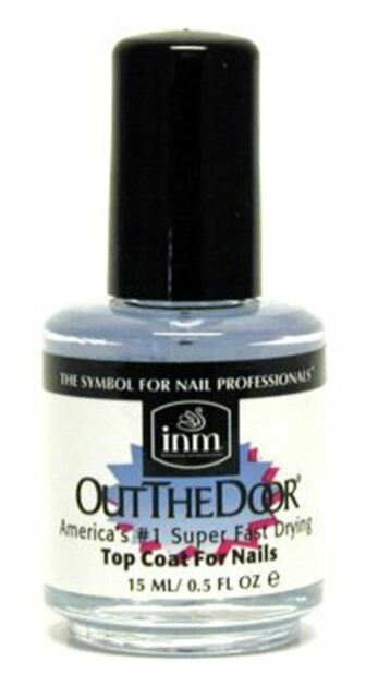 Inm Out The Door Clear Top Coat Fast Drying Nail Lacquer Glossy Manicure