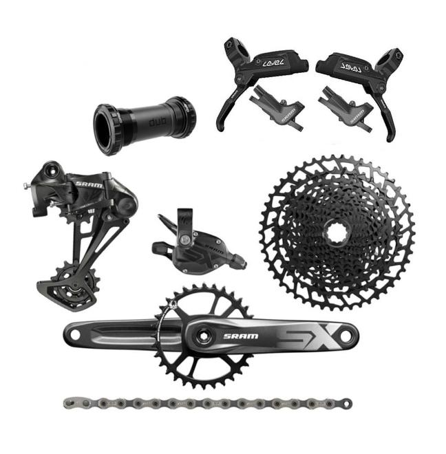 Gruppo MTB monocGoldna Sram SX EAGLE 12v groupset mountainbike + Freni Level Avid