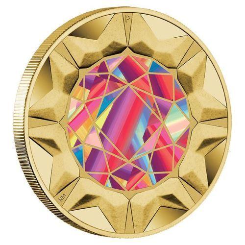 2017 Aust Tuvalu $1 UNC Coin Rare Beauties Extraordinary Gemstones Rhodonite