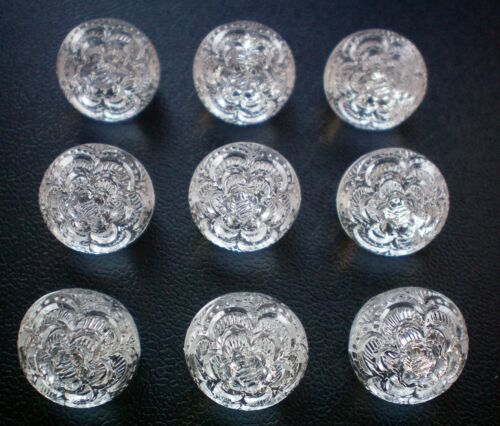 12mm 15mm Clear Transparent Crystal Sparkle Flower Ball Shank Buttons K284 K285