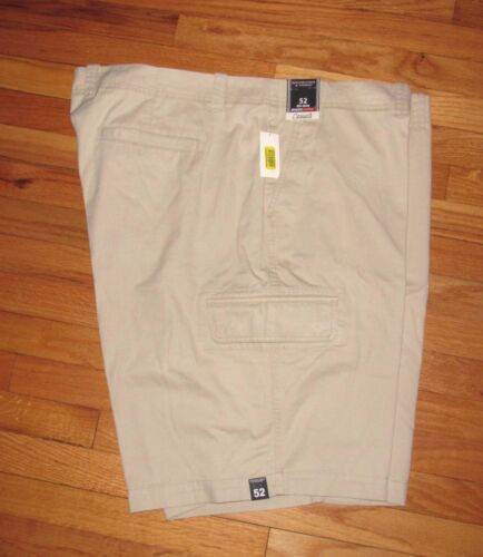 Roundtree Mens Light Khaki Cargo Casuals Shorts 46 NWT