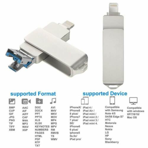 8//16//32//64//128//256GB OTG USB 3.0 Flash Drive Memory Stick For iPhone//Android//PC