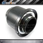 "3"" 76mm Inlet HIGH FLOW Short Ram Cold Air Intake BULLET Cone MESH Filter Carbon"