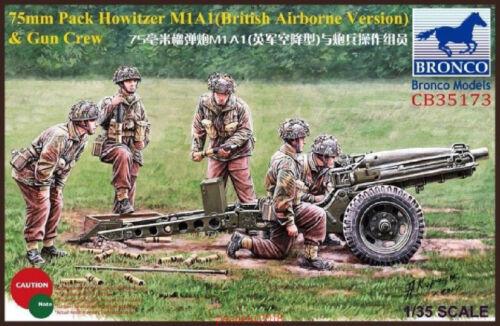 /&Crew Bronco CB35173  1//35  75mm Pack Howitzer M1A1 British Airborne Version