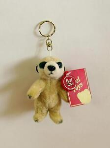 Details about Keel Toys Meerkat Keychain Soft Toy 10cm **BRAND NEW**
