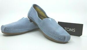 Toms-Womens-8-Pale-Blue-Suede-Moccasin-nwob-Mocs-Casual-Shoes-Flats-Slip-On