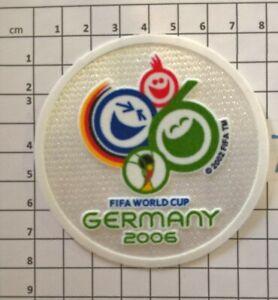Coupe du Monde 2006 Patch Badge maillots foot Brésil France Allemagne Espagne