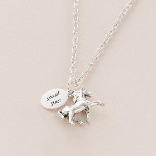 Wörtern Daten Pferd Anhänger Halskette eine Personalisierte Gravur Jeden Namen