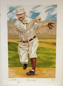 Details About Dick Perez Autographed Old Hoss Charles Radbourn 16x20 Print 310 Red Sox