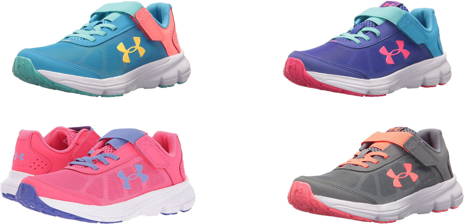 Under Armour Girls  Pre School Rave 2 Adjustable Closure Sneakers 6f0f0a62454