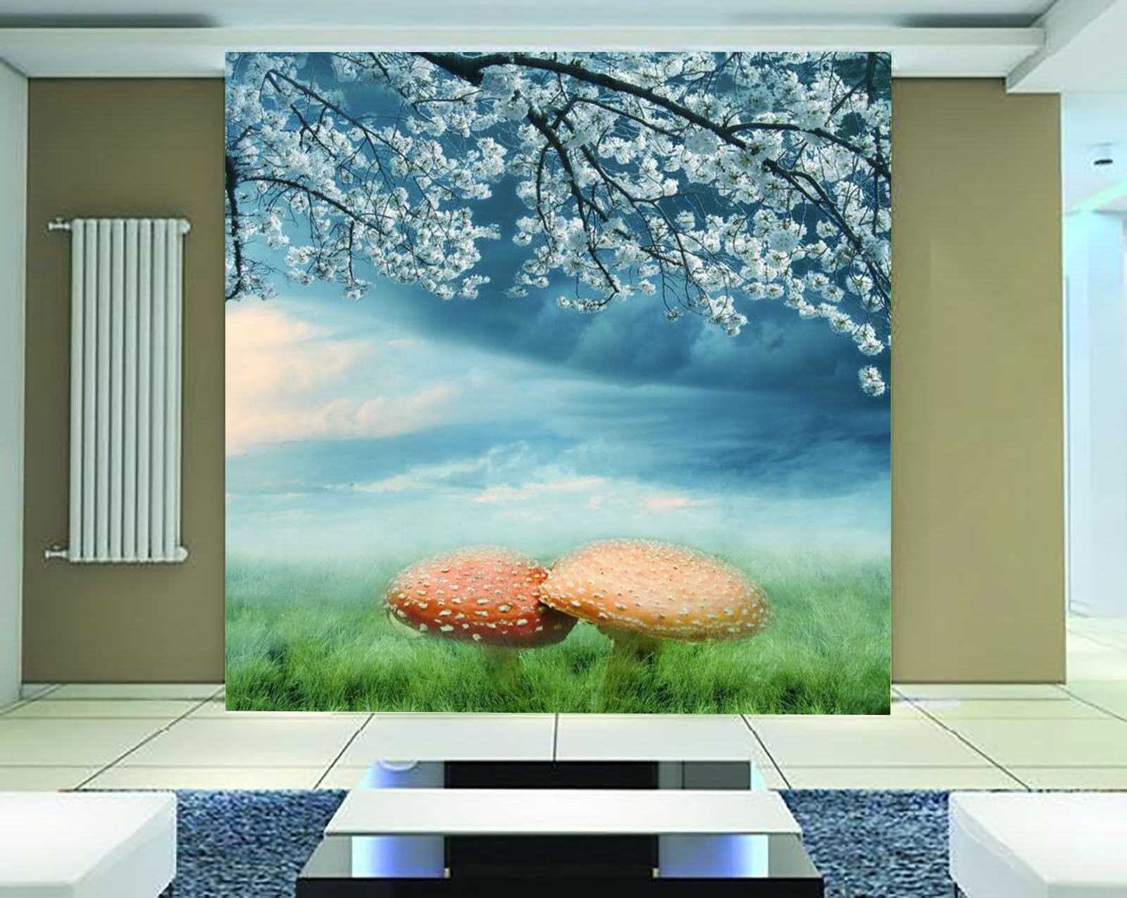 3D Bäume, Pilze 44 Fototapeten Wandbild Fototapete Bild Tapete Familie Kinder