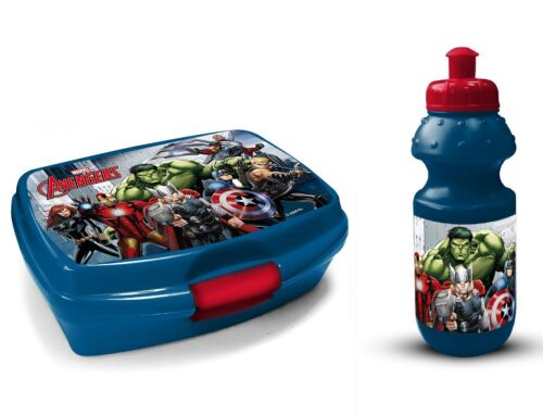 Marvel Avengers Boîte Déjeuner et Boissons Bouteille avec Marvel Heroes
