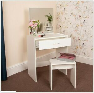 Marvelous Details About Small White Dressing Table With Stool Mirror Drawer Desk Practical Seat Bedroom Spiritservingveterans Wood Chair Design Ideas Spiritservingveteransorg