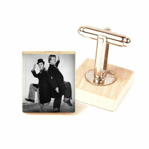Laurel and Hardy Cufflinks Laurel and Hardy Handmade Gift by DandanDesigns