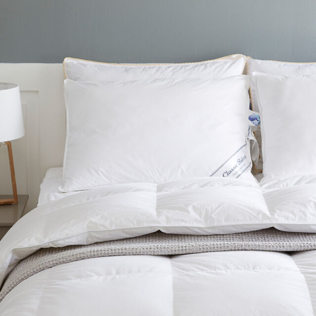 Canadian duck down surround Bed Pillow Standard white 1000g 35oz 700fp top sleep