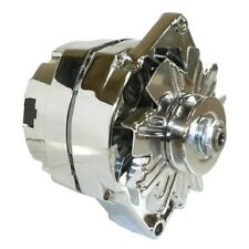 GM Single 1 one Wire 120 Amp Chrome Alternator chevy chevrolet 3 wire ford
