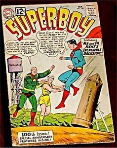 SUPERBOY-100-VG-1st-1949-DC-SERIES-1962-RARE