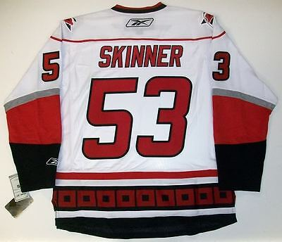 sneakers for cheap 7a237 af3d0 JEFF SKINNER CAROLINA HURRICANES REEBOK PREMIER WHITE ROAD JERSEY NEW WITH  TAGS | eBay