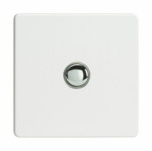 Varilight xdqm 1 S Screwless Premium Blanc 1 Gang 6 A 1 W poussoir momentané interrupteur