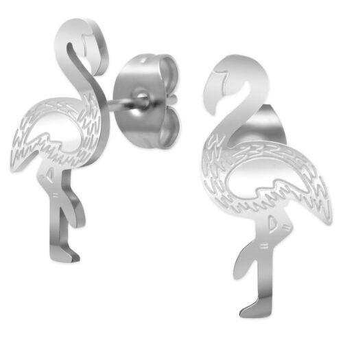 Cadena de acero inoxidable con remolque y adecuada pendientes Flamingo plata set//individualmente