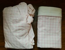 Laura Ashley Mulholland Gray And White Plaid Flannel Queen Sheet Set For Sale Online Ebay