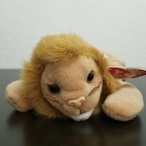 7c93898e19d Ty Beanie Baby Roary the Lion Retired 1996 Mint Condition w  Hang ...