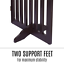 thumbnail 4 - Pet Gate Step Over Dog Gate Freestanding Assembly-Free Puppy Foldable Fence New