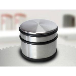 Metall-Tuerstopper-Tuerpuffer-7cm-x-9cm-1-1-kg-massiv-Tuerfeststeller-Chrom-Look
