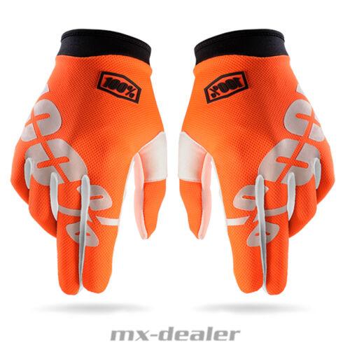 100/% Prozent itrack Handschuhe Orange 2017 MTB DH MX BMX Motocross Enduro Quad