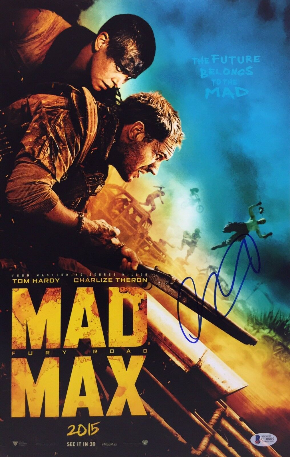 George Miller Signed 'Mad Max 11x17 Photo *Director Beckett C10885