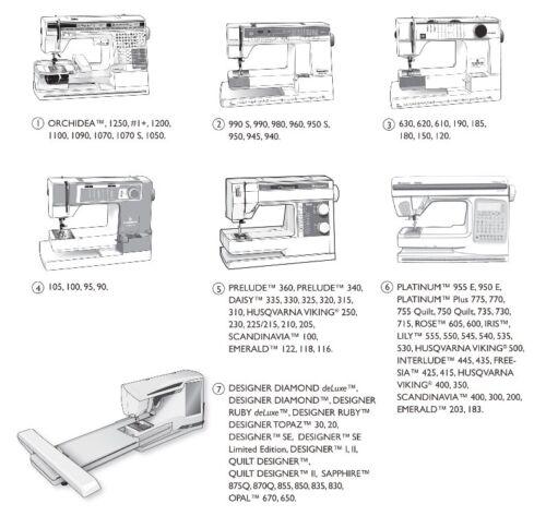 Sensor Q Foot Viking Husqvarna Sewing Machine 413 1920-45 Fits 7 Group***