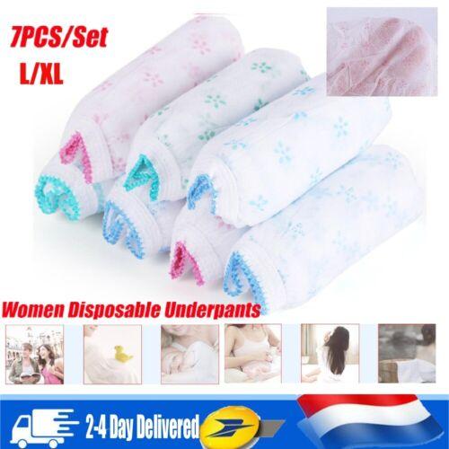 7pcs jetable Culotte de maternité Coton Femme enceinte Culotte Underwear L//XL