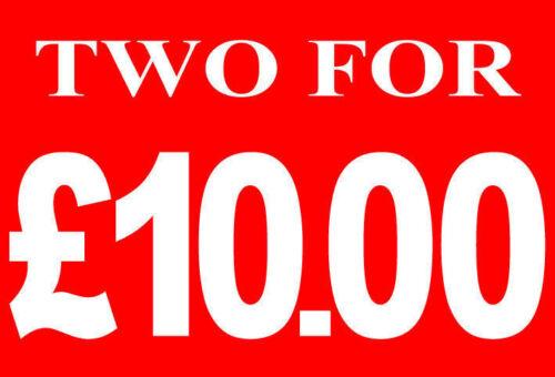 Dos por £ 10diez libras venta al por menor de tarjeta de identificación de carril Tienda Pantalla-Alta Calidad