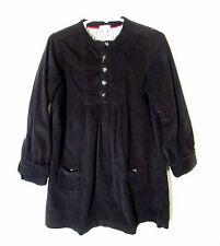 Jacadi Girls Long Sleeve Half Button Fine Wale Corduroy Dress Size 6A 6 YEARS