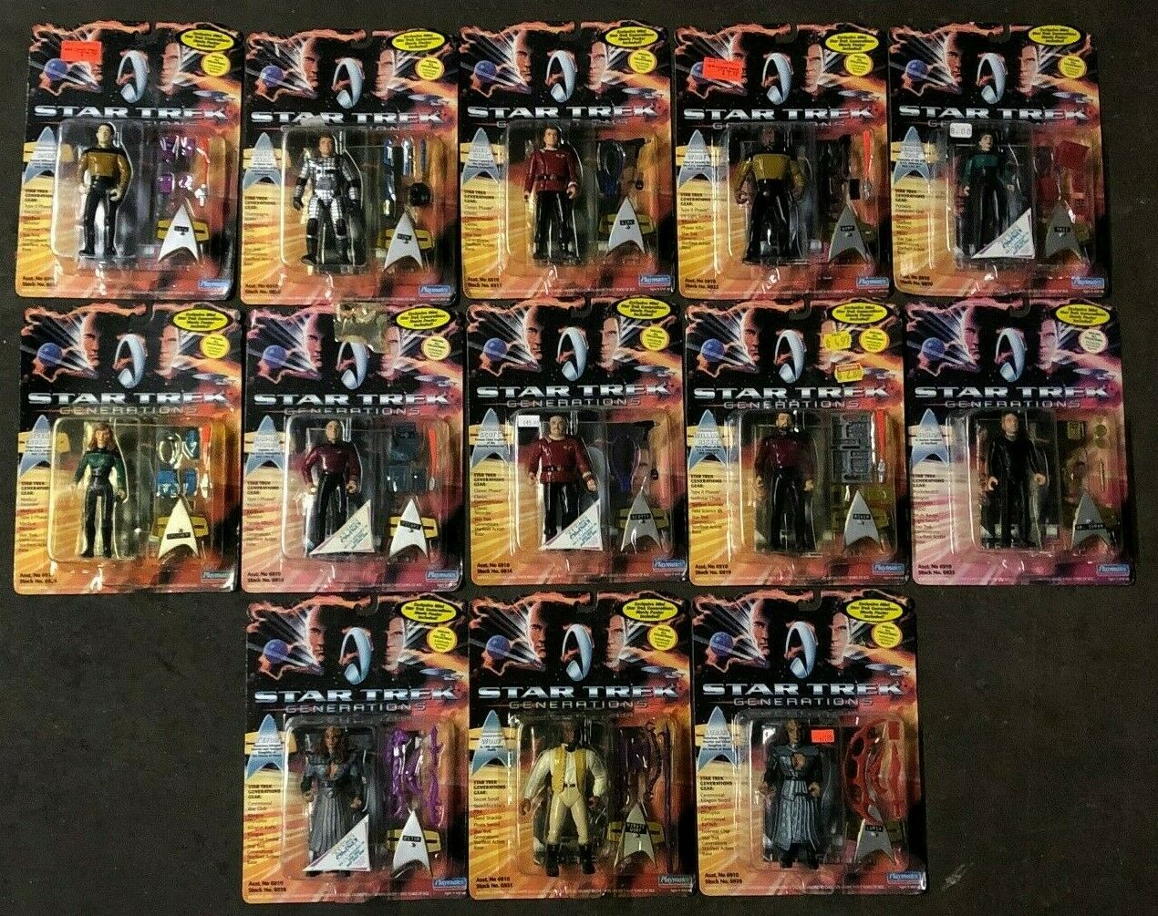 Lot Of 13x Star Trek Classic Movie Series Figure Lot of 10 by Playmates 1995 NOS