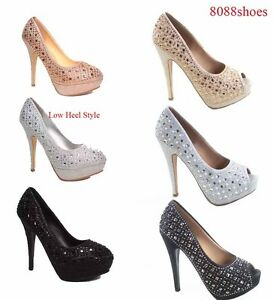 Women-039-s-Bridal-Open-Round-Toe-Stiletto-High-Heel-Platform-Pumps-Shoes-5-5-10