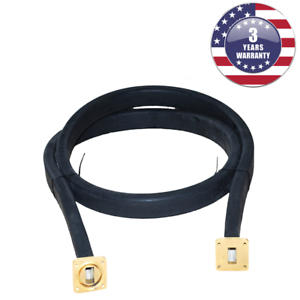 New WR75 Flexible Waveguide 72 Inches Length Twistable Cover//Cover-Groove