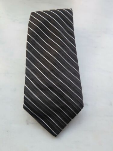 Arrot & Gibb Men's Tie Black and White Stripe