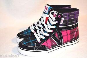 Vans Corrie Hi Top Girls Skate Shoes Keds Size 11 12 13 1