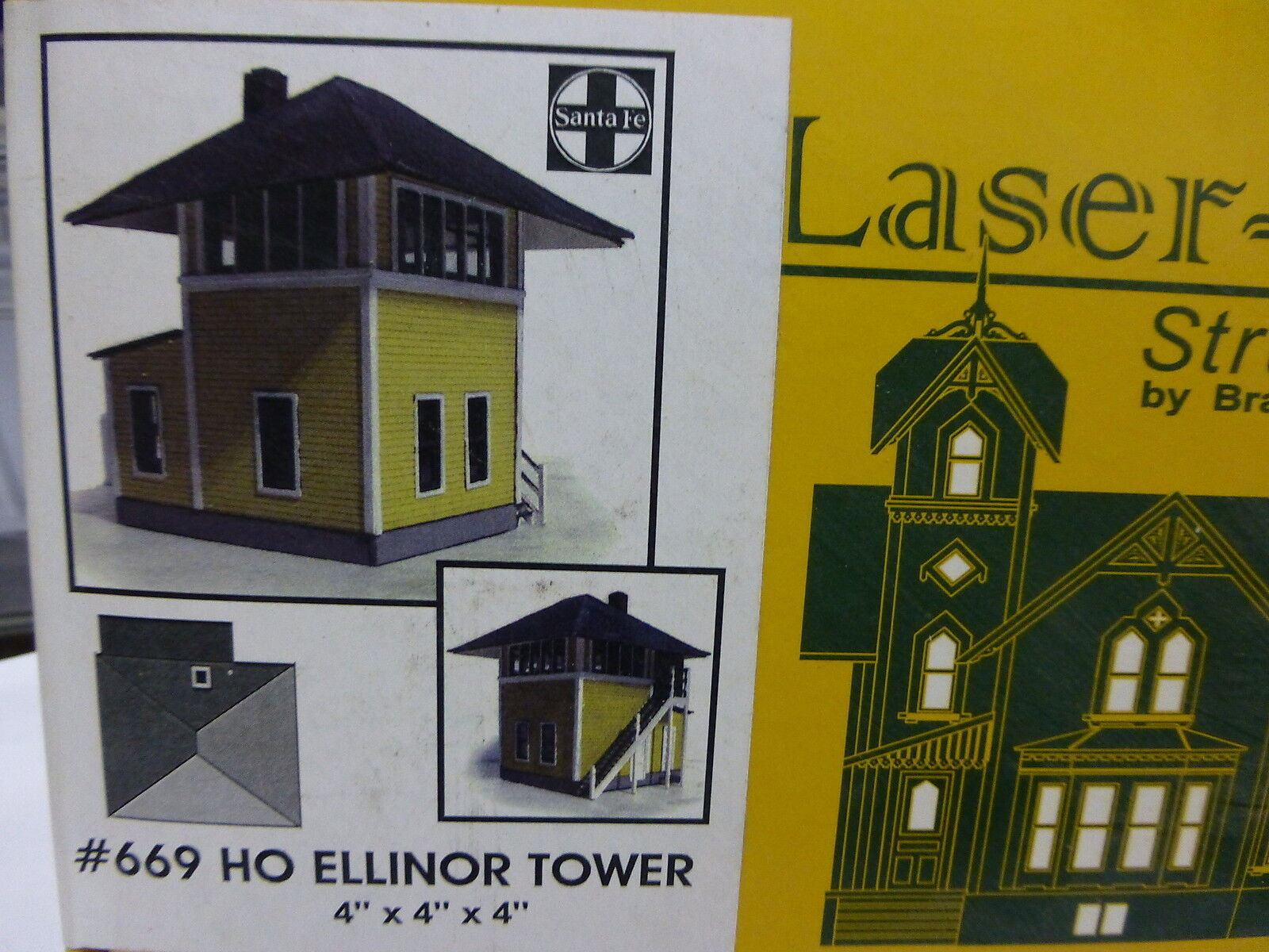 Branchline N Ellinor Tower 4  x 4  x 4  Laser-Art Kit form