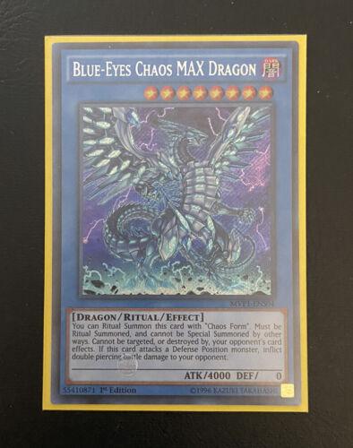 YUGIOH Blue-Eyes Chaos MAX Dragon 1st Edition SECRET RARE MVP1-ENS04 NM