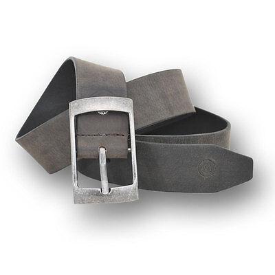 Di Larghe Vedute Vittozzi Cintura In Pelle Larga 4cm Morbido N. 237 Antracite Lunghezza 80cm O 85cm-
